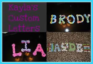 Kayla's Custom Letters