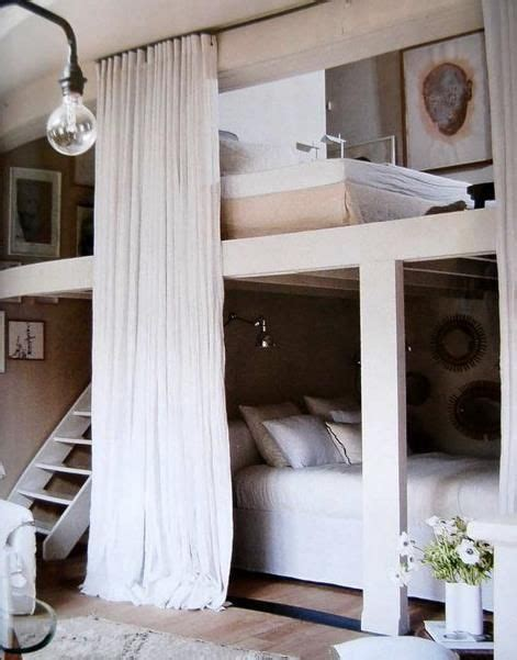 cool bed love  privacy guest room bunk beds
