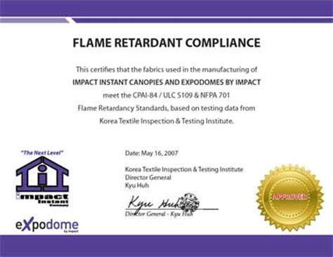 Retardant Certificate Template by Certification Foodtent