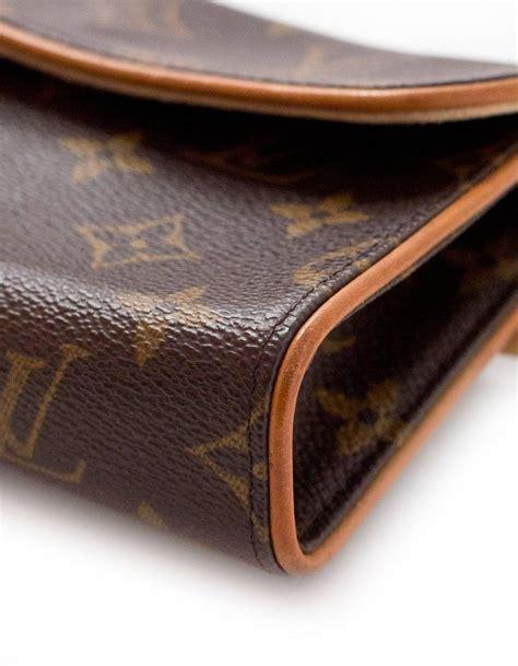 louis vuitton monogram pochette florentine belt bag waist pouch sz   sale  stdibs
