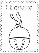 Polar Express Coloring Nestofposies Bell Tickets sketch template