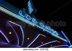 Art Deco marquee sign of the Los Gatos movie theater Stock