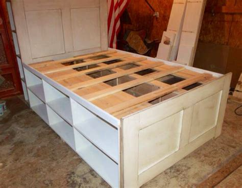 Queen Platform Storage Captain's Bed By Sameasnever On Etsy