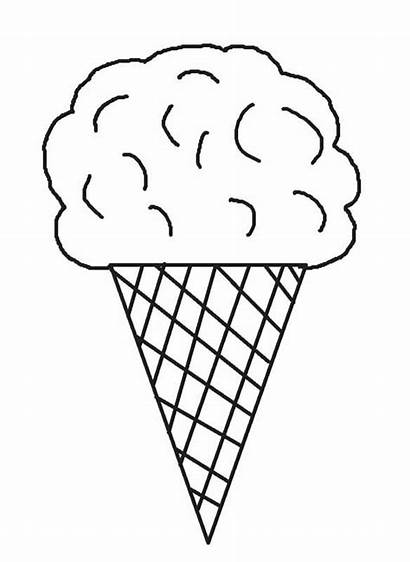 Ice Coloring Cream Cone Pages Cones Printable