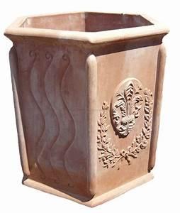 Pflanzkübel Terracotta Eckig : term hlen terracotta impruneta hoher sechseckiger terracotta k bel ~ Orissabook.com Haus und Dekorationen