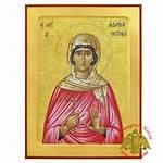 Byzantine Wooden Icon Saint Saints Female Nioras