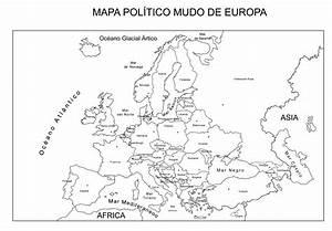 mapa de europa sin nombres