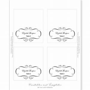 tent place card template With template for place cards 6 per sheet