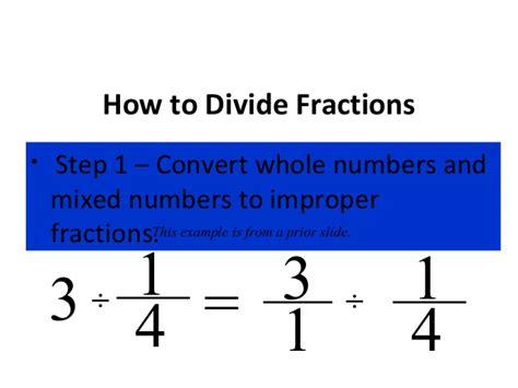 to devide dividing fractions
