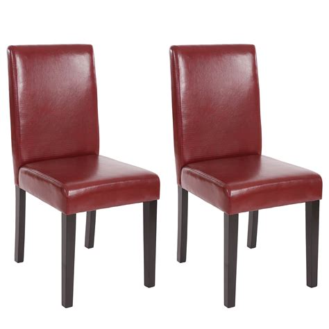 chaises de séjour lot de 2 chaises de séjour littau simili cuir pieds