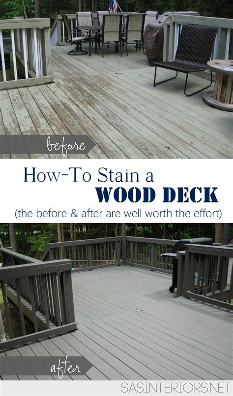 how to stain a wood deck burger