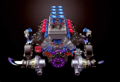 twin turbo lsx rendered  keyshot  engine rendering