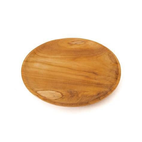 teak wooden dinner plate