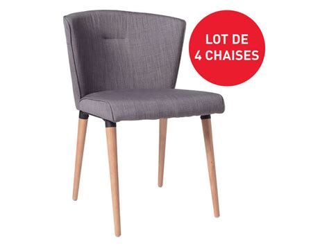 lot de 4 chaises en tissu heidi pas cher chaises