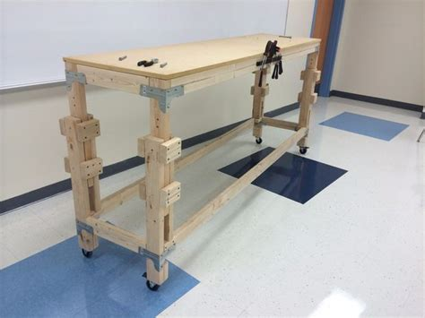 build  adjustable stand  workbench woodworking bench