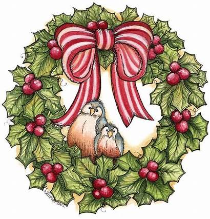 Wreath Christmas Clipart Clip Holly Graphics Candle