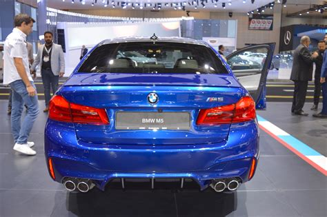 2018 Bmw M5 Rear At 2017 Dubai Motor Show
