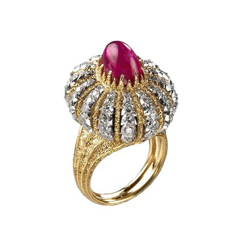 different colors of gold gianmaria buccellati 1974 ring in gold turban in