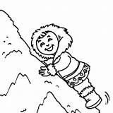 Coloring Eskimo Climb Snow Pile Colornimbus Happy Climbing Student Very Young Template Fun sketch template