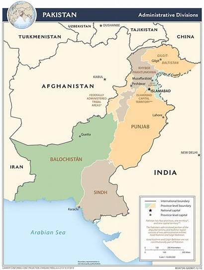 Pakistan Carte Mapa Map Pakistanu Administracyjna Karachi