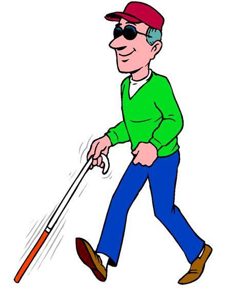 blind man cartoon clipartsco
