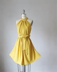 Vintage-Mustard-Yellow-Bridesmaid-Dresses