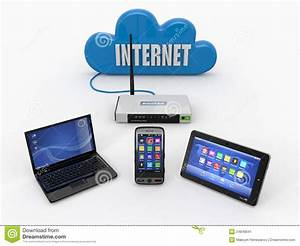 Home Wifi Network  Internet Via Router Stock Illustration