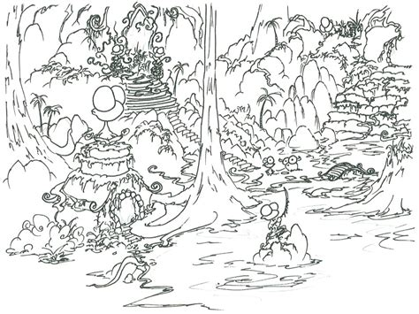 Coloring Jungle by Jungle Coloring Pages 3 Coloring