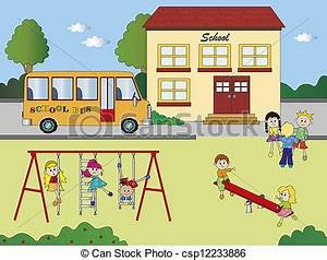 Stock Illustration of school - illustration of school with ...