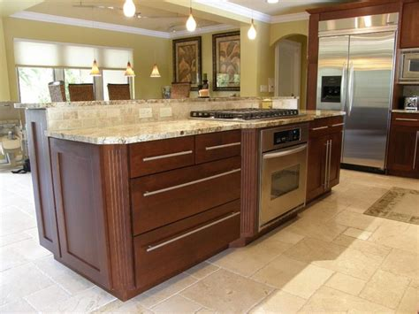 kitchen island with stove and oven transitional kitchen contemporary kitchen miami by