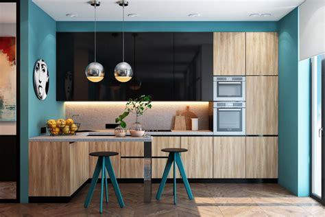 beautiful blue kitchens  brighten  day