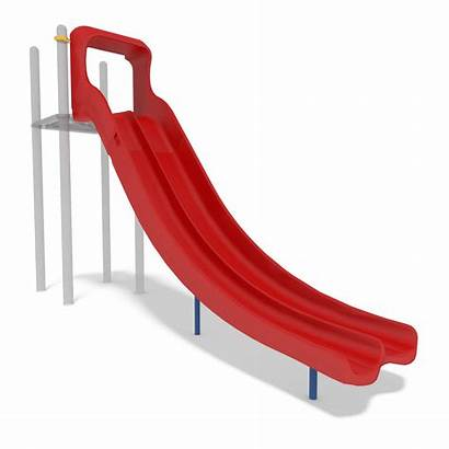 Slide Swoosh Double Playground Safety Steep Component