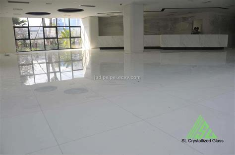 White Floor, Crystallized Glass, Marmoglass, Crystal White