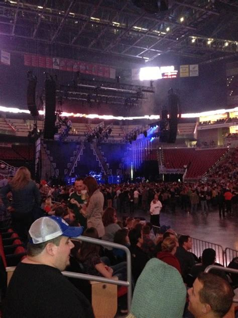 kfc yum center section  concert seating