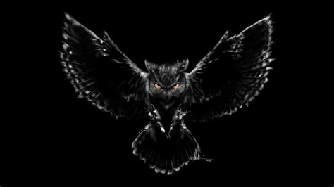 Background Digital Owl Wallpaper by Scary Owl Wallpapers Wallpapers Hd