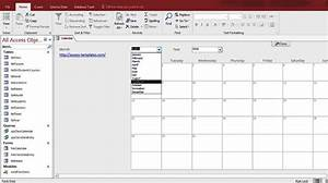 microsoft access calendar form template for microsoft With ms office access templates