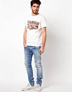 Lyst - Pepe Jeans T-shirt Flag Logo in White for Men