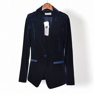 Aliexpress.com : Buy black velvet blazer women blue velvet ...