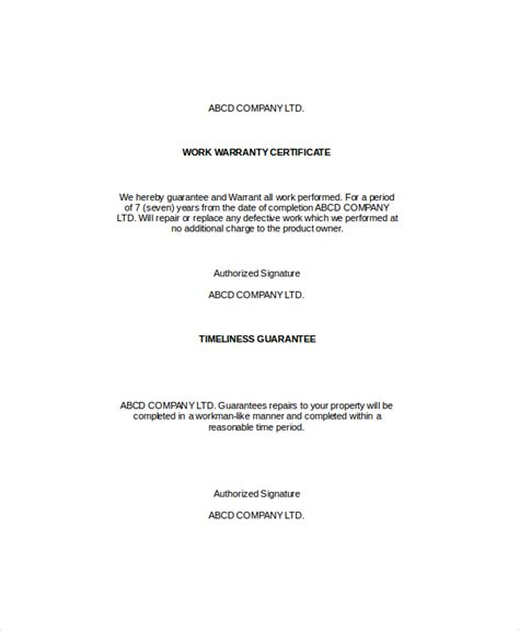 warranty repair request letter create a free template with warranty certificate template 9 free word pdf 78213