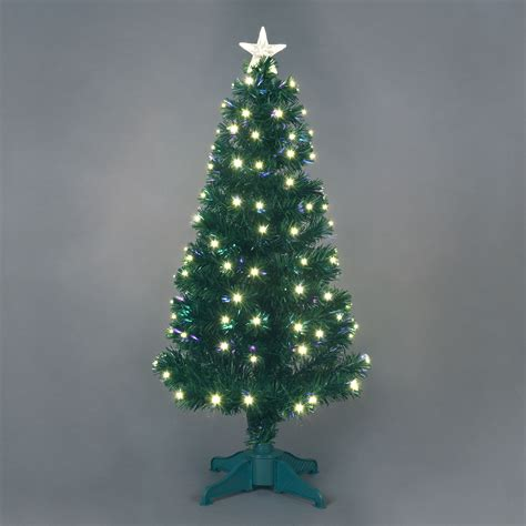 4ft fibre optic saturn tree with warm white leds ebay