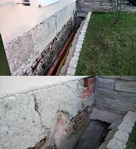 Alte Wände Verputzen : alte ziegel und betonmauer verputzen sockelbereich ~ Orissabook.com Haus und Dekorationen