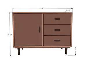 ana white brooke midcentury modern console diy projects