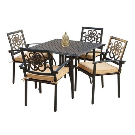 cast aluminum patio furniture with sunbrella cushions cafe style outdoor dining set with sunbrella cushions