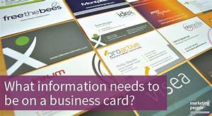 What information needs to be on my business card for What information should be on a business card