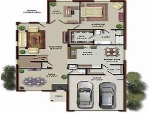 4 bedroom house floor plans 3d house floor plans houses for Layout for 4 bedroom house