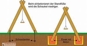 Betonfundament Für Pfosten : schaukel richtig aufstellen brettschaukel ~ Whattoseeinmadrid.com Haus und Dekorationen