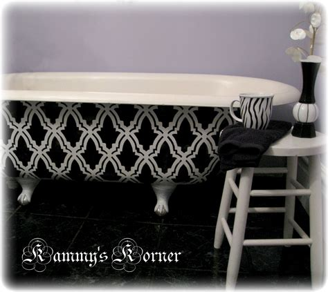 Can You Paint A Clawfoot Tub by Kammy S Korner Thrifted Canvases With My New Cutting Edge