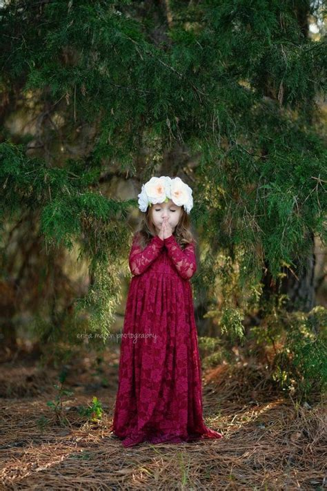burgundy sweetheart dress flower girl wedding