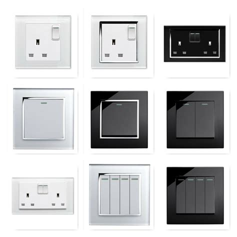 retrotouch black white glass rocker light switches