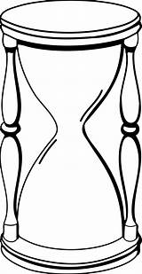 Hourglass Clipart Glass Hour Clip Line Sand Cliparts Coloring Drawings Clock Shape Stopwatch Duration Timer Animated Drawing Data Outline Transparent sketch template